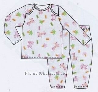 Girls Prints 2 Piece Long Sleeve Pj Set/ Pajama Set (Newborn-large)