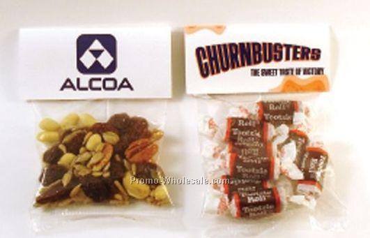 Header Card Packs Clear Cello Bag W/ 2 Oz. Gummi Bears Or Worms