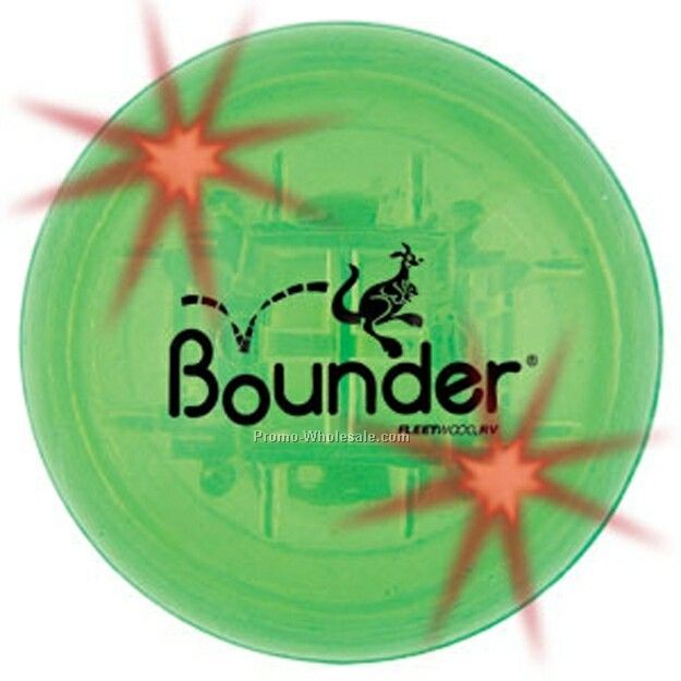 Light Up Bounce Ball (Sound & Red Led) - Green