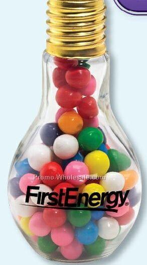 M&M's Plain Or Peanut Medium Large Glass Candy Filled Light Bulb