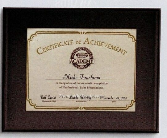 Medium Beveled Certificate Holder
