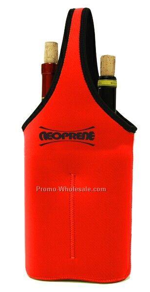 "Neoprene Double Bottle Sleeve - Red (8""x17""x3"")"