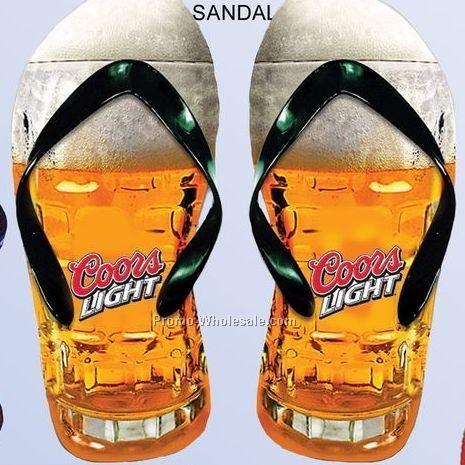 Pair Of Sandals W/ Photo Soles
