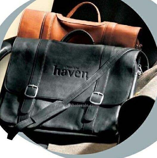 Vaqueta Napa Leather Deluxe Flapover Briefcase