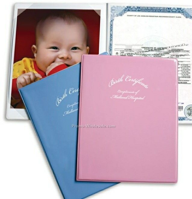 Vinyl Birth Certificate Holder & Picture Frame