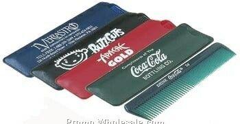 Waldor Unbreakable Comb W/ Matching Vinyl Case (Comb Or Case Imprinted)