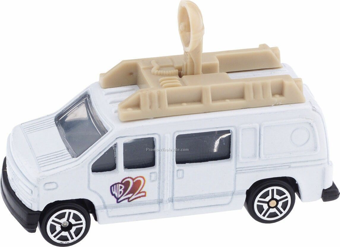 White News Van Die Cast Mini Vehicles - 3 Day Rush