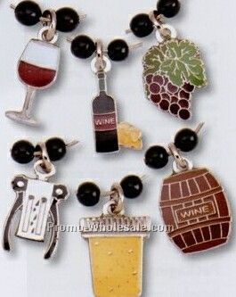 Wine Related Stock Wine Glass Charm Set