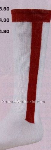 "Youth ""all In One"" Combination Baseball Sock W/ Striped Trim (9-11)"