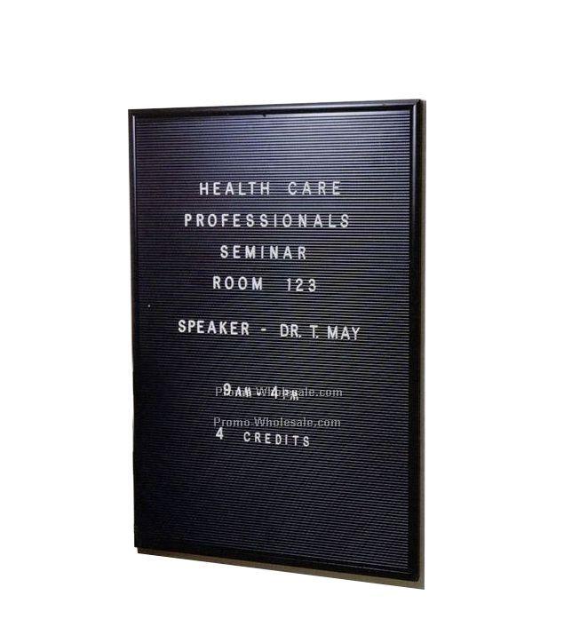 "24""x36"" Big Board (Black Frame, Black Panel)"