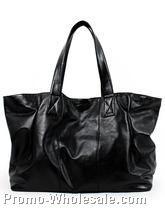 28cmx20cmx10cm Ladies Black  Shoulder Bag W/ Large Rings