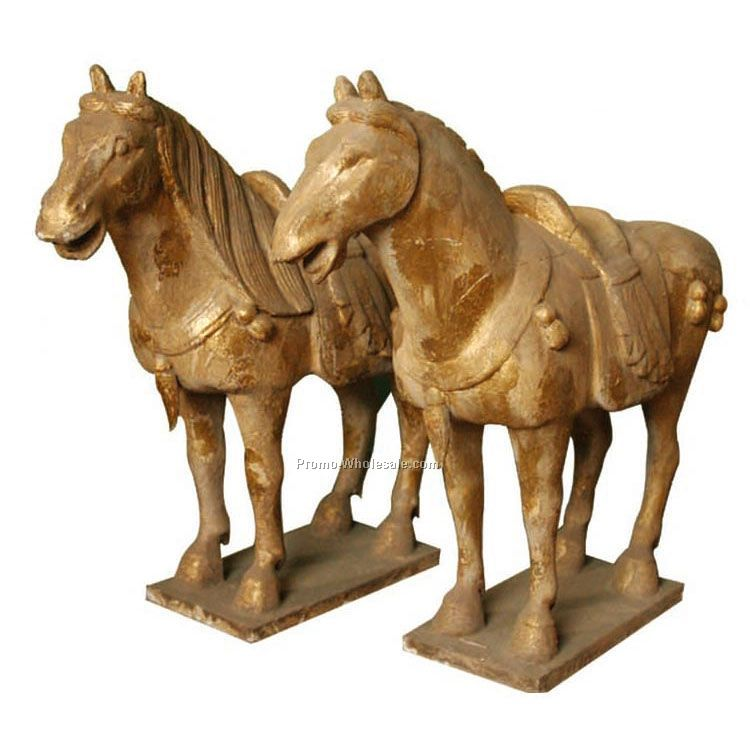 wood horse for  rustic
