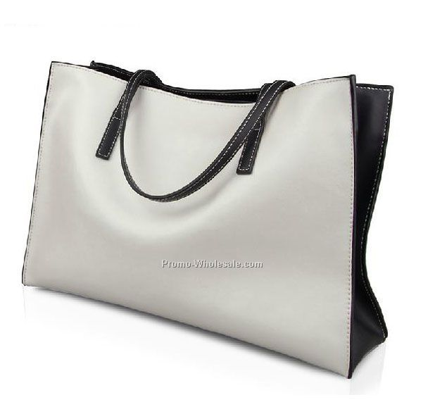 fashion lady tote bags big capacity leather shopping bags