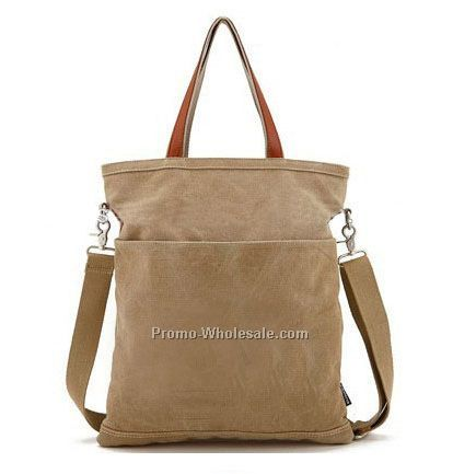 Simple canvas tote bag leather handle for woman hot-selling tote bag canvas