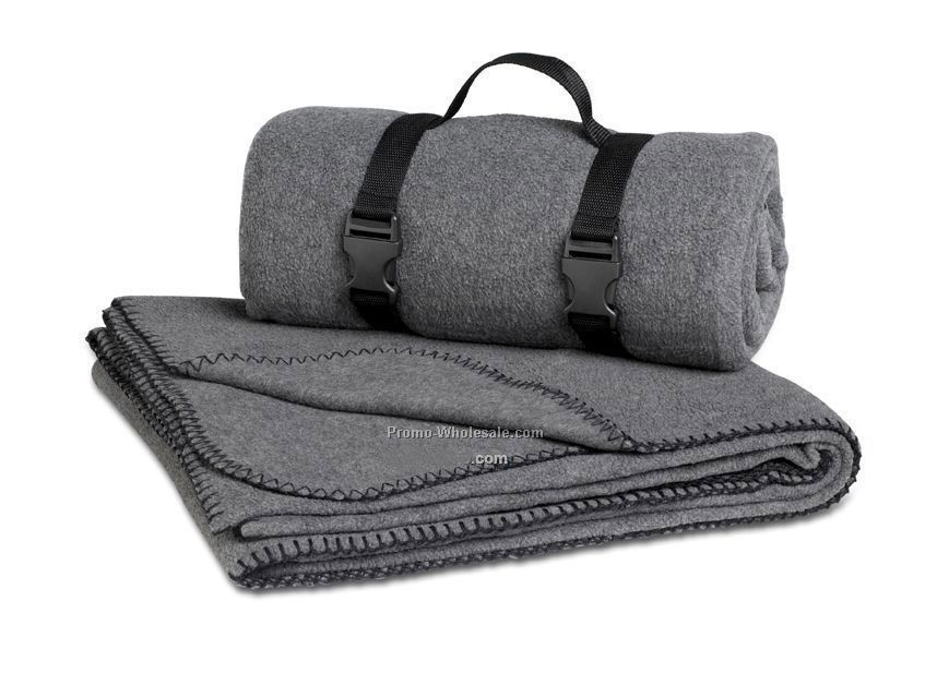 Charcoal Grey Polar Fleece Throw Blanket