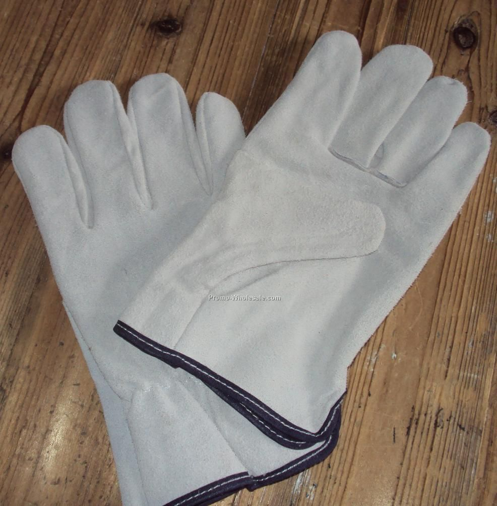 Cow split leather Working gloves,industrial leather hand gloves