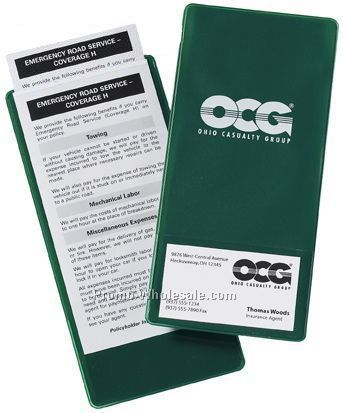 Document Sleeves with Business card pocket