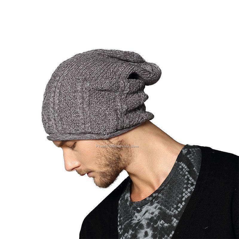 Men's slouch knitting hat