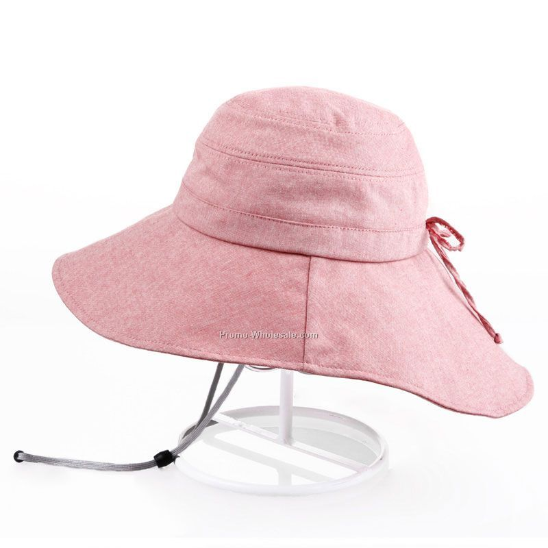 Lady pink bucket hat