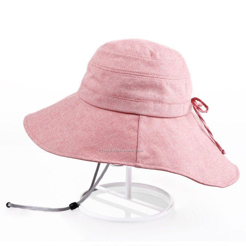 Lady pink bucket hat