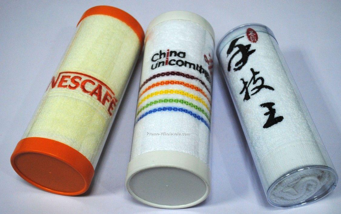 Cylinder packaging towel