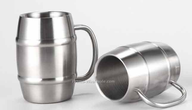 Stainless Steel Beer Barrel Mug