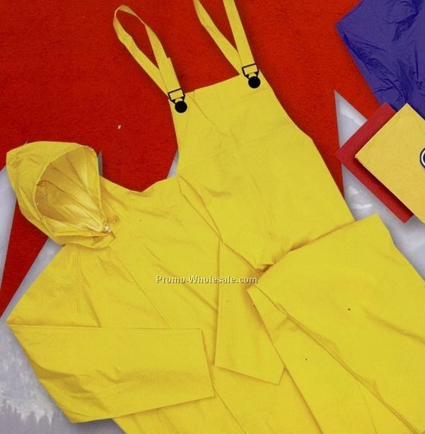 2-piece Lightweight Rain Suit With Jacket & Bib Overall (S-2xl)