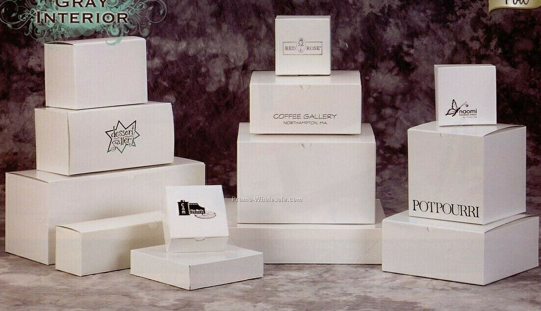 2-piece Pop-up White Gloss Gift Boxes