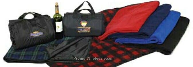 2-sided Nylon Fleece Carry Blanket