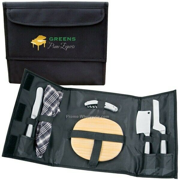 "20-1/2""x10-1/4"" Open Wine & Cheese Picnic Kit (Not Imprinted)"