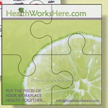 "3-1/2""x3-1/2"" 4-piece Screen Print Magnetic Puzzle"