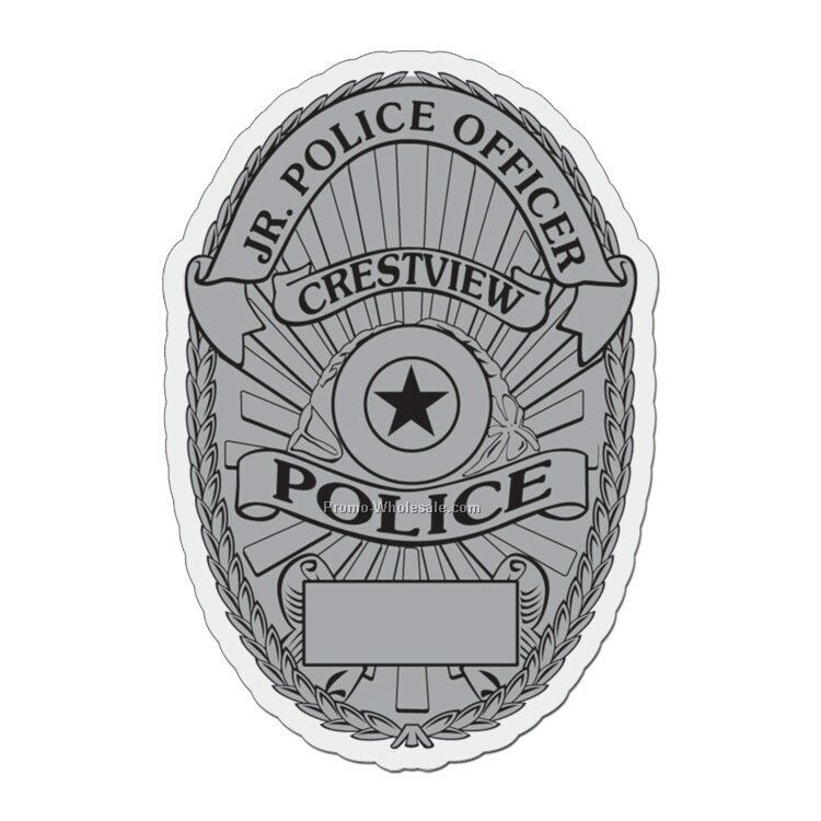 "3""x2"" Police Badge Plastic Badge"