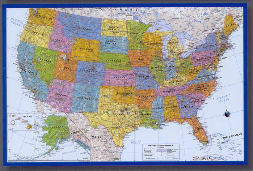 Mapschina wholesale mapspage17 36x24 usa highway poster map gumiabroncs Image collections