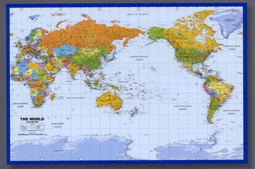 Mapschina wholesale mapspage16 36x24 world map poster with pacific centered gumiabroncs Images