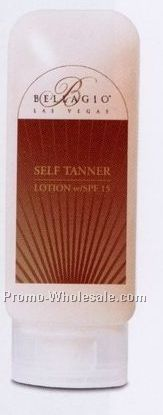 4.5 Oz Tube Spf 15 Lotion With Self Tanner (Custom Label)