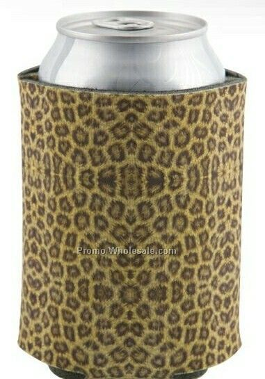 4 Color Process-dye Sublimation Neoprene Beverage Sock-cheetah Pattern