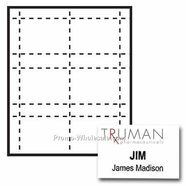 "4""x2-1/2"" Custom Nametag Inserts - 3 Color"