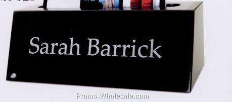 "5""x1-3/4""x2"" Blank Small Name Bar W/ Card Holder"