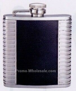 6 Oz. Pvc Covered Stainless Steel Pocket Flask