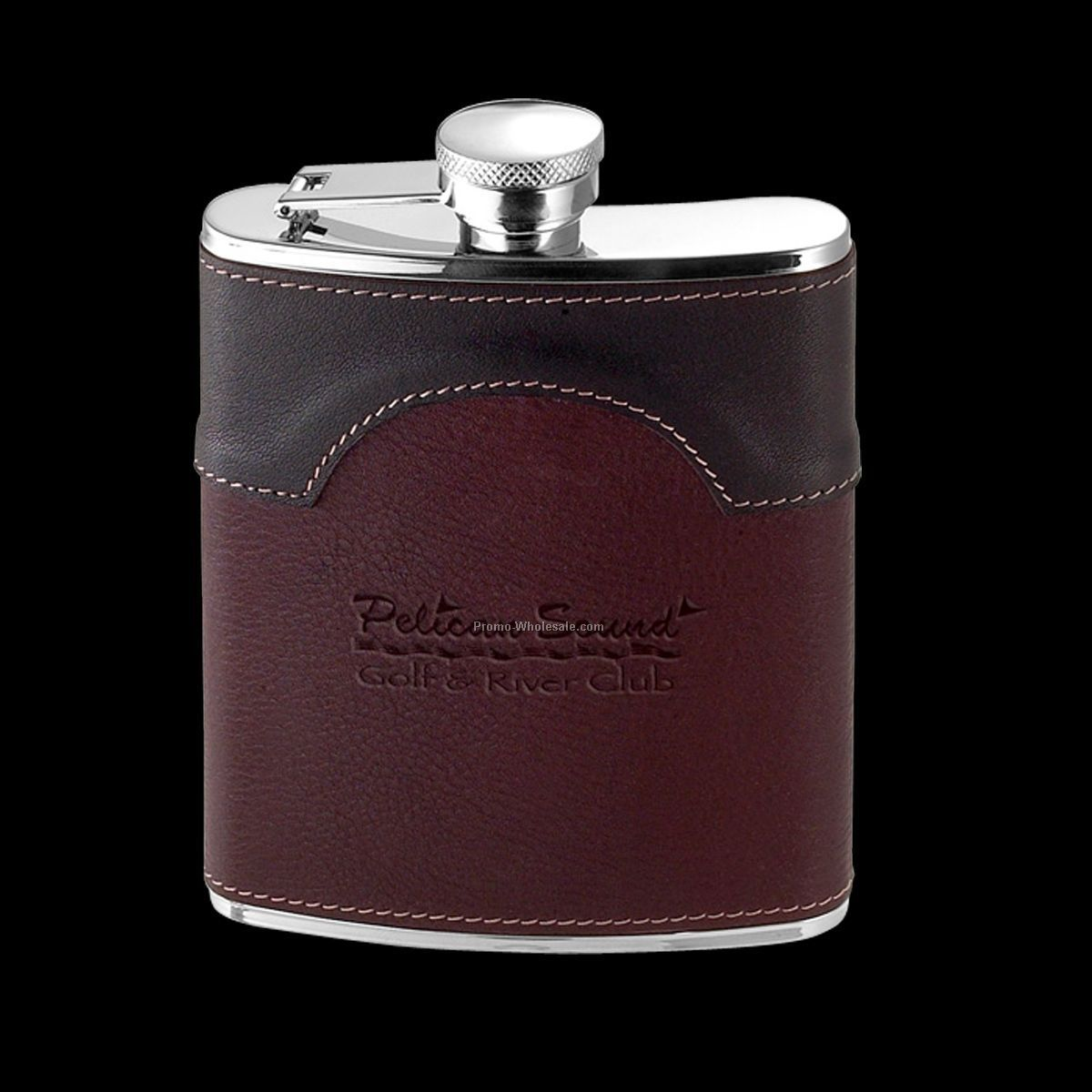 6 Oz. Ronson Leather Hip Flask