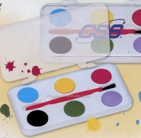 6-color Water Color Paint Set (Blank)