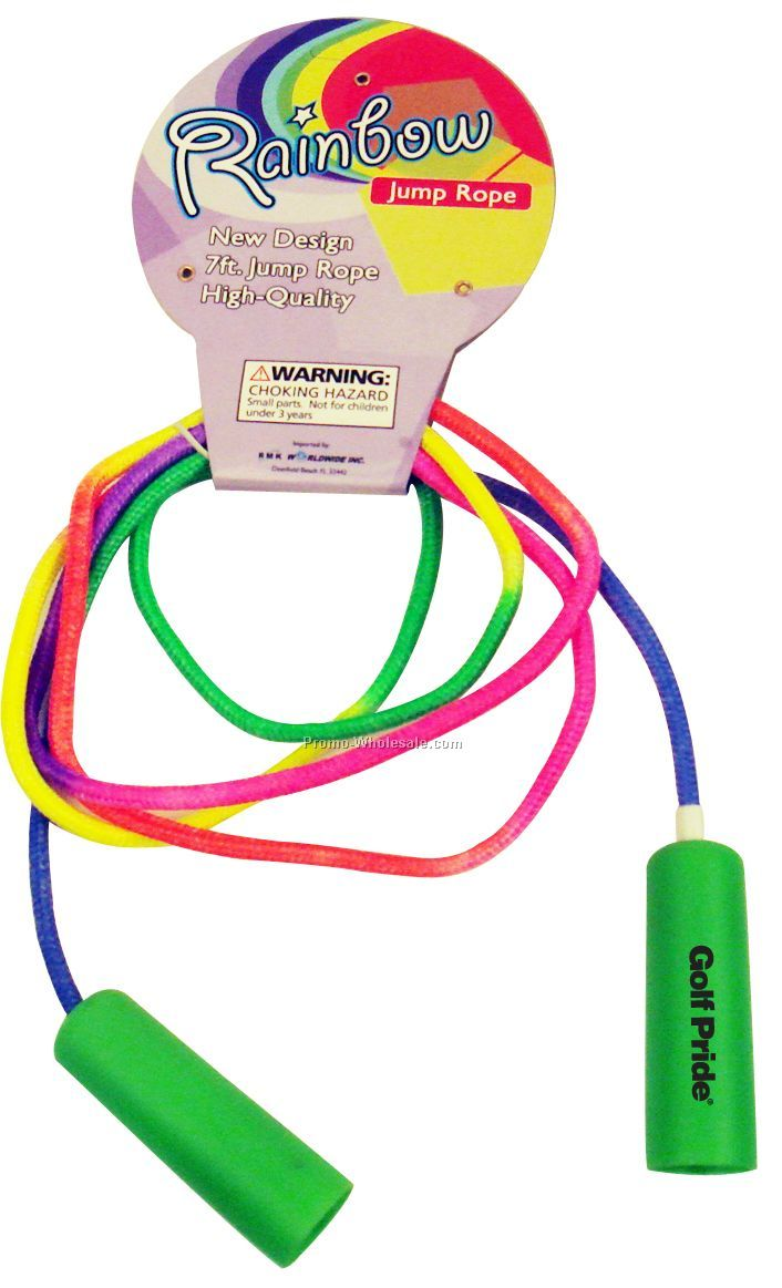 7` Green Handle Jump Rope (Imprint Both Handles***)
