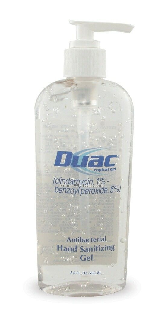 8 Oz. Tall Oval Pumps - Antibacterial Alcohol Gel