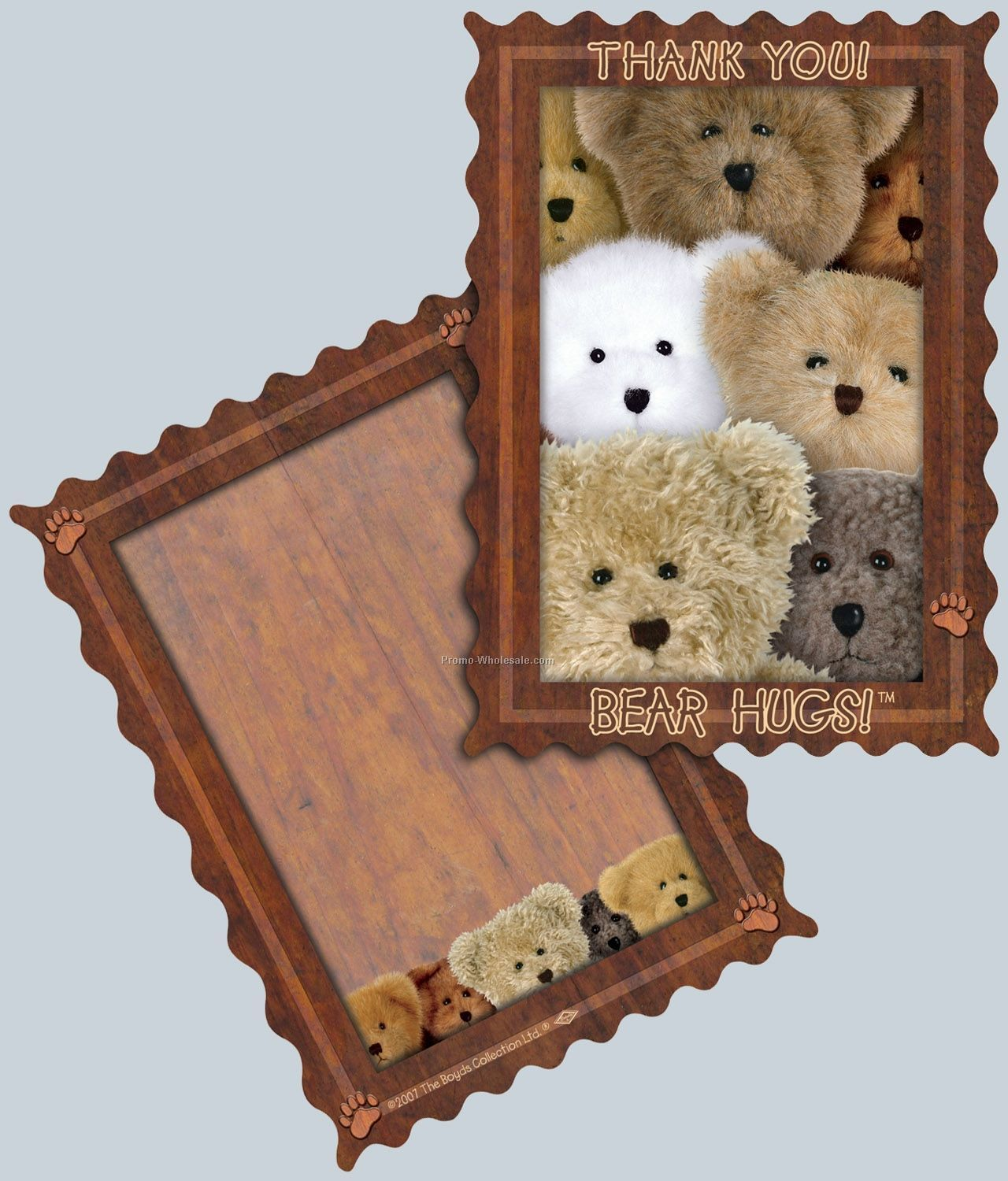 Boyds Bears Thank You Note - Bear Hugs