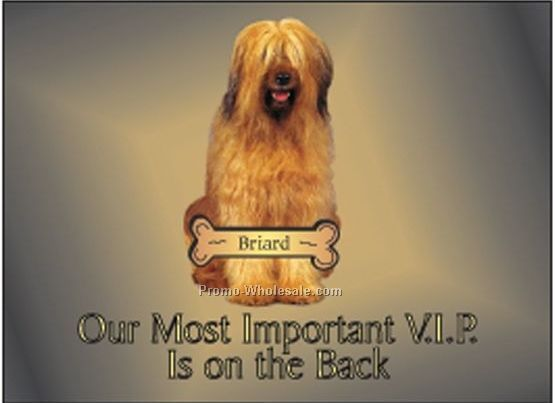 "Briard Dog Rectangle Photo Hand Mirror (2-1/2""x3-1/2"")"
