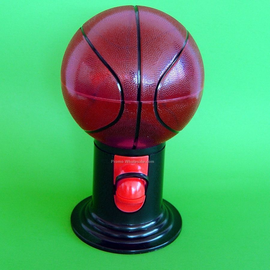 Candy Dispenser - Basketball - 1 Side / 1 Color Custom Imprint