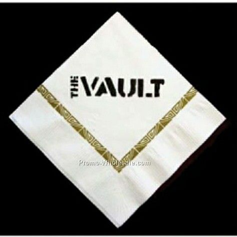 Custom Beverage 3-ply Napkin (1 Color)