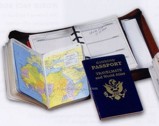 Hammond Passport Travelmate And Us Atlas W/ Red Cover