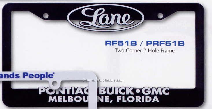 Hi-impact 3-d Two Corner License Plate Frame With 2 Holes