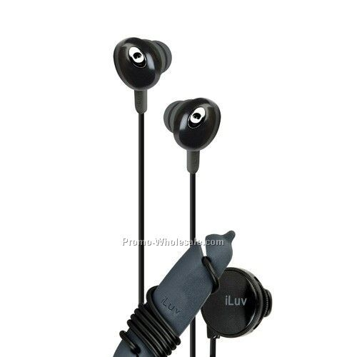 Iluv In-ear Stereo Earphone With Volume Control - Blk